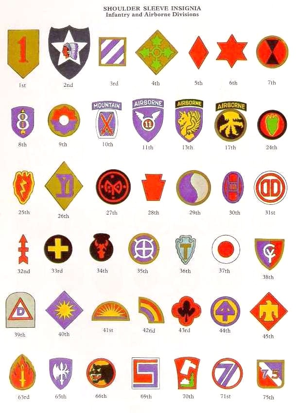 Us divisions regiments and supporting units