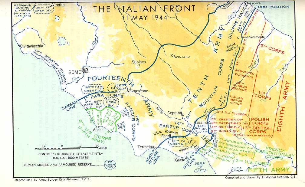 The italian campaign history map of gustav line gumiabroncs Choice Image