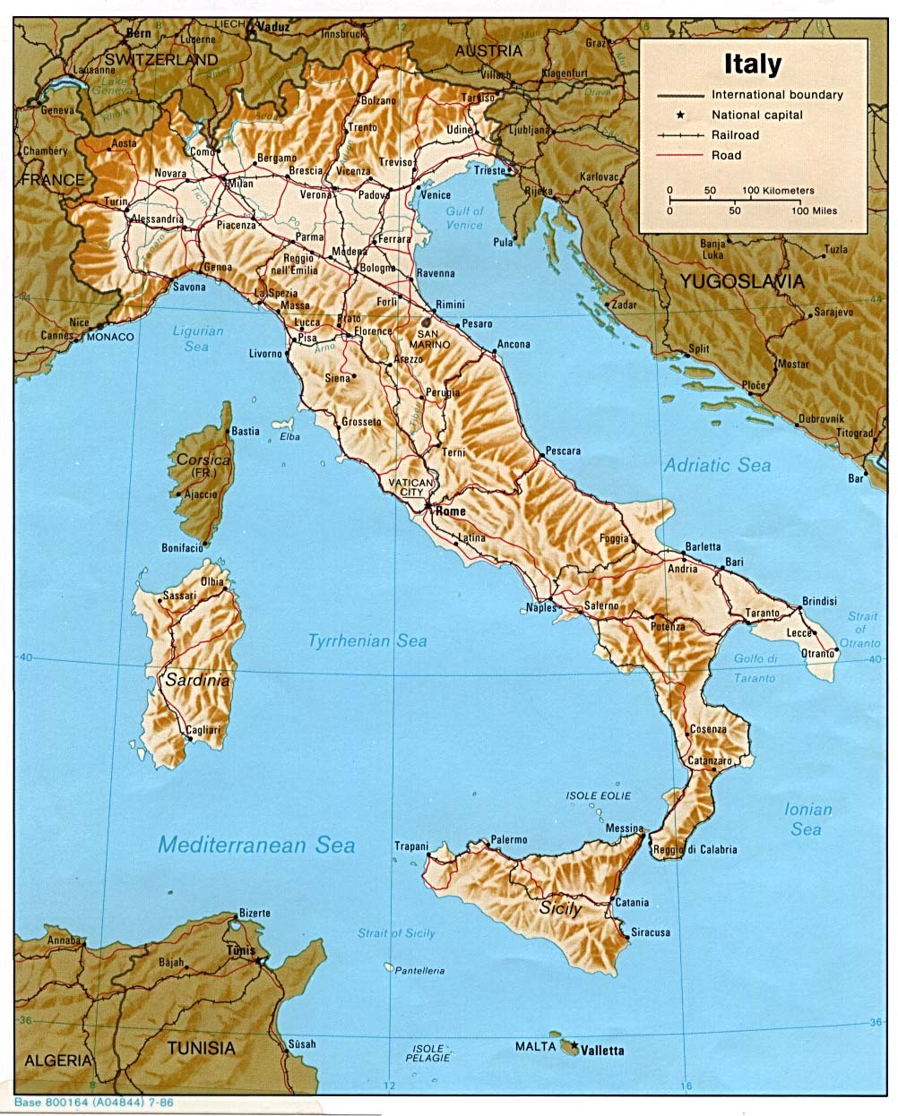 Army Issue Maps Of The Italian Campaign - Map of italy